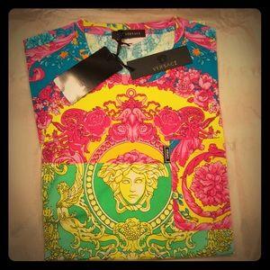 Versace Medusa Head Barocco Print shirt
